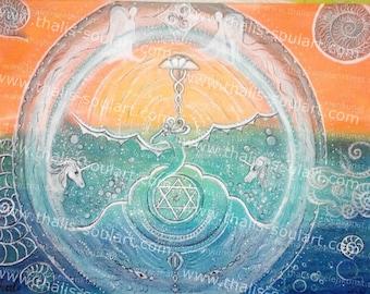Magic dragon 40 x 30 cm COPY protection magic, Dragon