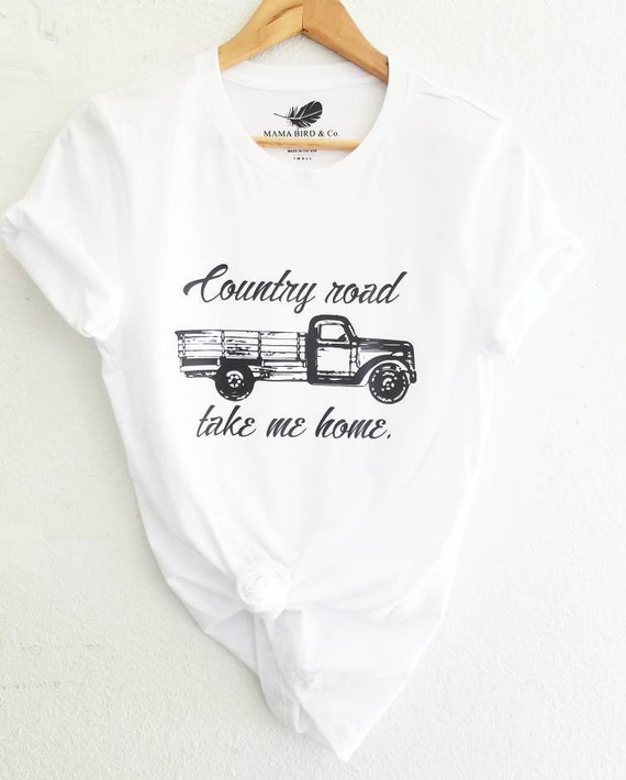 COUNTRY ROAD Take Me Home, Boyfriend Tee, Country Road, Vintage Vibes, Vintage Tee, Vintage Truck, Vintage Tshirt, Country Tee