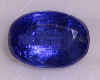 Kyanite 1.249cts Oval Cut 7.05 x 5.18mm Nepal H4.5-5 to 6.5-7 y9518 Loose Gem Faceted Gemstone Rare Gemology Collector