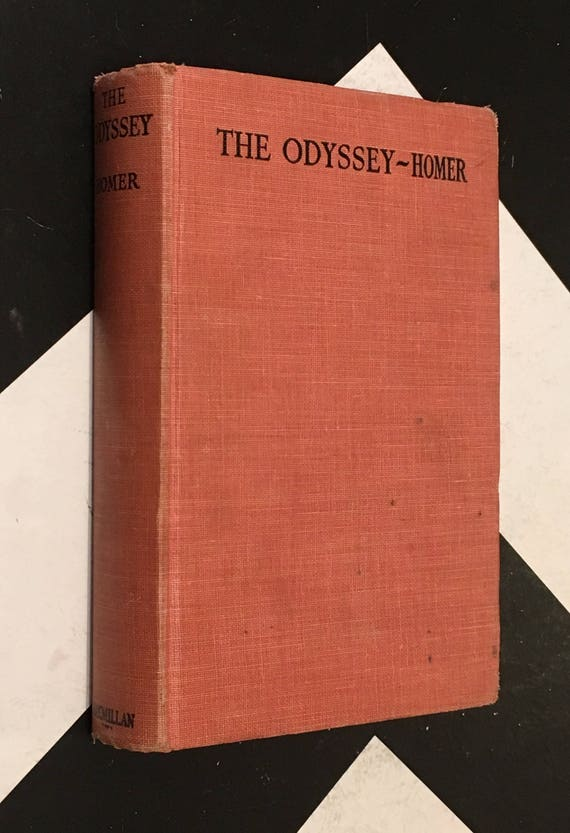 The Odyssey by Homer with an Introduction by John A. Scott orange black vintage shabby chic classic book (Hardcover, 1945)