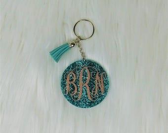 Woman Gift, Birthday Gift, Glitter Keychain, Custom Keychain, Monogram Keychain, Keychain, Name Keychain, Cute Keychain, Keychain for Women