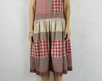 CHRISTINA JANE Vintage 1980s Drop Waist Dress Size S 8-10