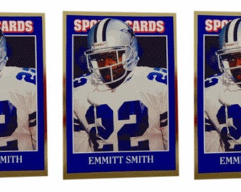 5 - 1992 Sports Cards #52 Emmitt Smith Football Card Lot Dallas Cowboys