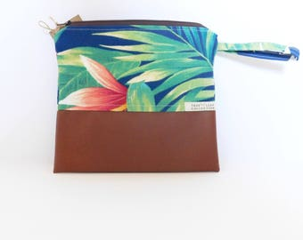 Travel Pouch // Clutch // Cosmetic Bag // Hawaiian Paradise // True Leaf Collection