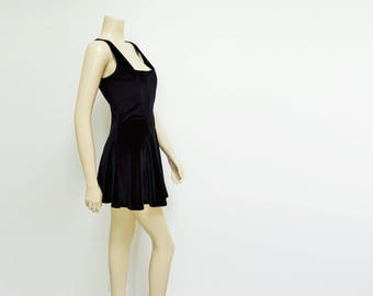 Long black dress size 8 conversion