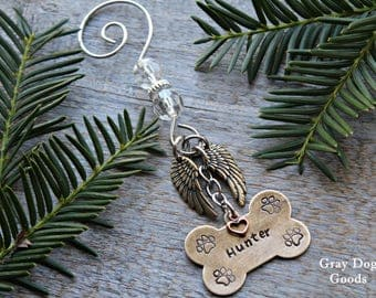 Dog Memorial Ornament, Loss of Dog, Dog Sympathy, Pet Memorial Ornament, Read full listing details to complete your order