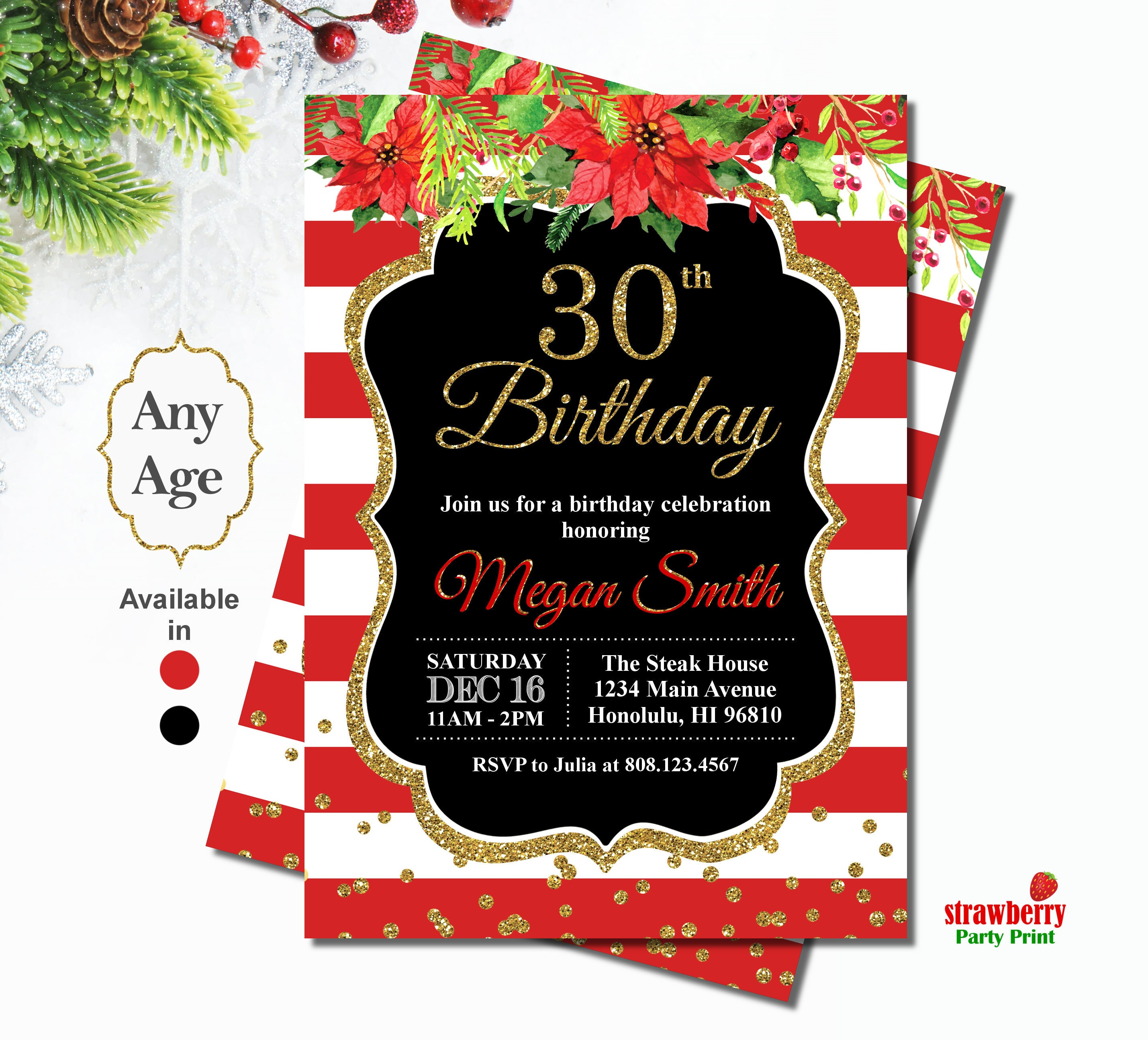 Luxury 50th Birthday Invitations For Her Photos - Invitations and ...