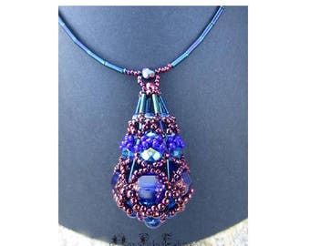 Beaded GUMDROP pendant tutorial