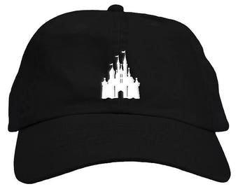 Cinderella Princess World Castle Dad Hat Baseball Cap Low Profile