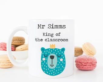 Personalised King of the classroom Teacher mug