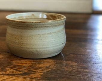 Handmade Succulent Planter Pot Brown Stoneware Clay Flower Pot Speckled White, Pottery Stoneware