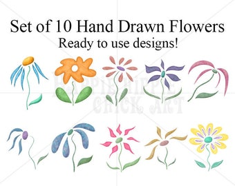 Commercial Use Graphics - Commercial Use Vectors - Commercial Use SVG - Commercial Use Clipart - Commercial Use Image - Flower Illustrations