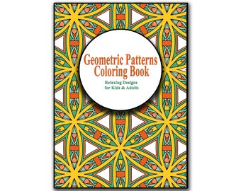 24 Geometric Patterns Coloring pages Printable, Adult Coloring Book Download LineArt Instant Download Printable Coloring Book For Adults