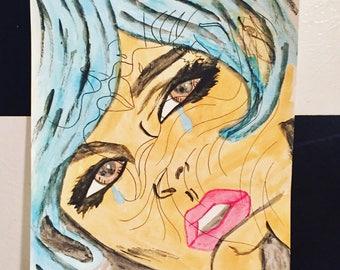 Pop Art Tearful Love