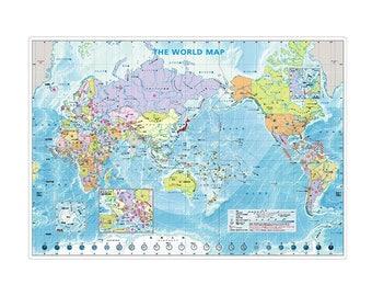 Map Writing Board, Writing Mat, Plastic Sheet, A4 Size