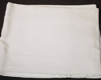 """1920's Pure Linen Double Plain Top Sheet Laundered Unused 105-1/2"""""""" x 72"""""""