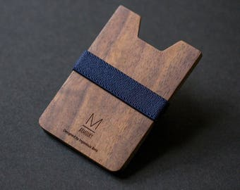 Wood wallet • minimalist wallet for mens wallet groomsmen gift for him slim wallet money clip wallet womens wallet card wallet best wallet