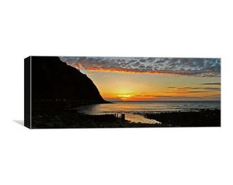 Lynmouth Sunset Panoramic Canvas Print