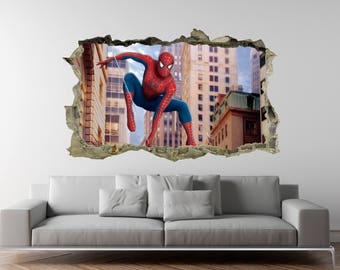 Spiderman Wall Decal | Etsy