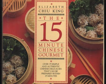 Noodle recipe book etsy 15 minute chinese gourmet by elizabeth chiu king 1986 hardcover w dust jacket first edition forumfinder Choice Image