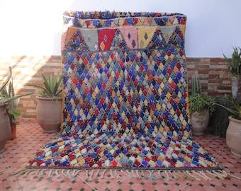 boucherouite rug vintage authentic moroccan berber