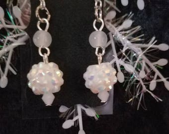 Glittery Snowball earrings