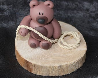 Clay Bear with rope (BDSM)