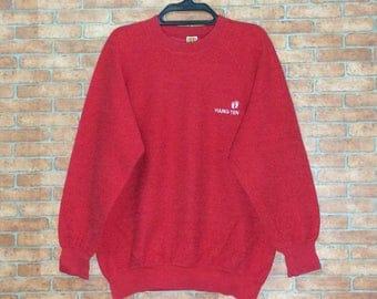 Rare!!! Vintage HANG TEN embroidery Sweatshirt Vtg USA Hangten Crewneck Pullover Jacket M size