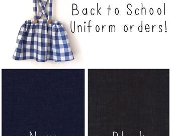 School Uniform Suspender Skirt