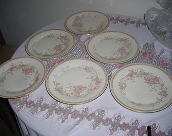 Royal Doulton Romance Collection Lisette English Fine Bone China set of 6 Dinner Plates