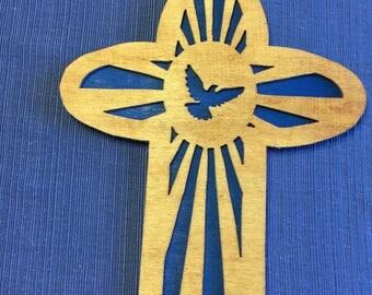 Wooden Dove cross