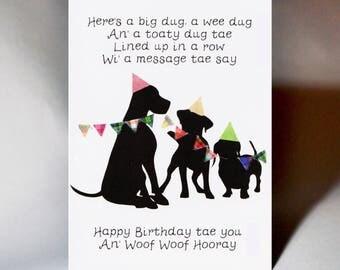 Birthday Three Dogs Card WWBI135