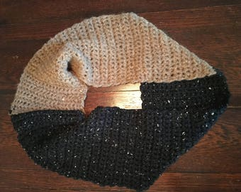 Two-Toned Infinity Scarf Neck Warmer