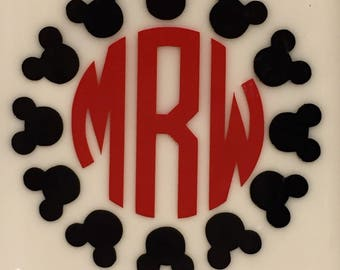 Mickey Mouse Monogram and Initials Decal