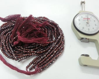 13 Inch Ruby Color Cubic Zirconia Faceted Rondelle Beads - Maroon Beads - Maroon Rondelle Beads - Maroon Faceted Beads - Ruby CZ Beads