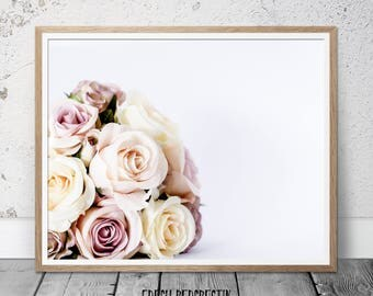 Roses print, roses bouquet photography, glamour wall art, bouquet wall print, roses wall art, flower wall art, floral wall art print,