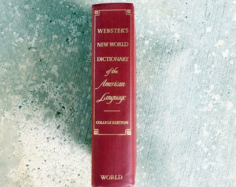 1968 Webster's Dictionary, Illustrated, Excellent Condition