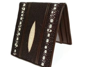 mens wallet stingray leather of genuine stingray skin leather