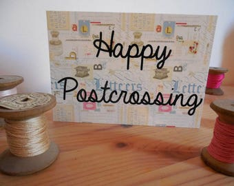 Carte postale Happy postcrossing