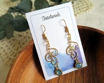 earrings,plated gold Earrings,personalised,Bridesmaid Jewelry,Bohemian,Hippie,drop earrings,gift for her, dangle earrings,handmade