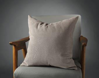 Gray Pillow, Greige Velvet Pillow, Grey Beige Velvet PIllow, Grey Velvet Pillow, Beige Velvet Pillow, Greige Bed Pillow
