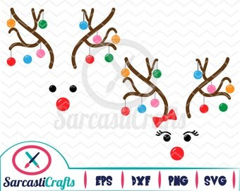Ornament Reindeer - Christmas/Holiday Graphic - Digital download - svg - eps - png - dxf - Cricut - Cameo - Files for cutting machines