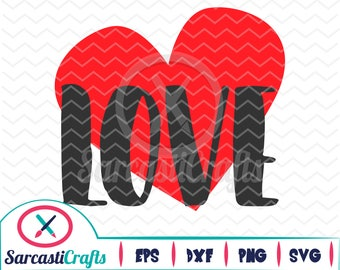 Love Heart - Valentine's Day Graphic - Digital download - svg - eps - png - dxf - Cricut - Cameo - Files for cutting machines
