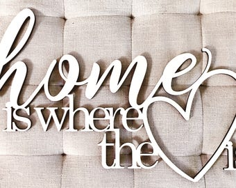 Home Is Where The Heart Is - Motivational Quote for Work, School, Goals