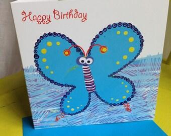 Birthday Card ~ Butterfly Happy Birthday