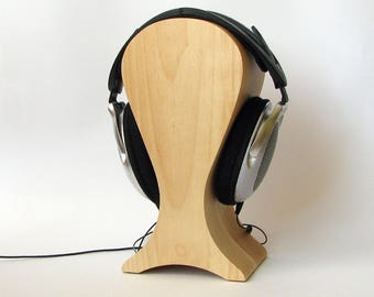 The best headphones friendly Wooden stand of maple