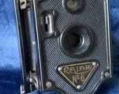 Vintage Bakelite Camera Rajar No6 Vintage Photography Vintage Camera Folding Camera Collectible