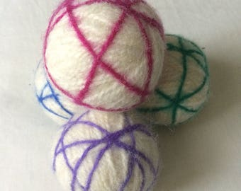Wool Felted Dryer Balls set of 4