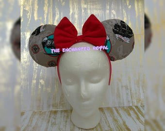 Disney Ears, Pirates Of The Carribean, Mouse Ears, Pirate Ears, POTC, Captain Jack Sparrow, Black Pearl, Dead Men Tell No Tales, Johnny Depp