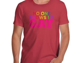 Funny T Shirts For Dad No One Knows I'm Gay Men's T-Shirt